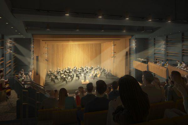 orchestra auditorium rendering