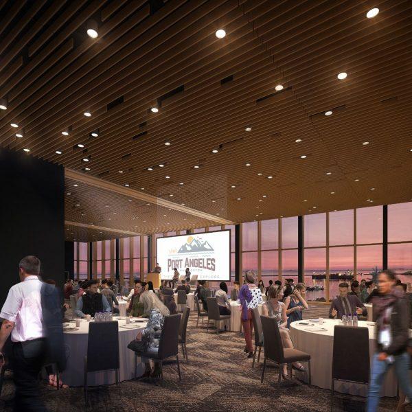 interior event space rendering